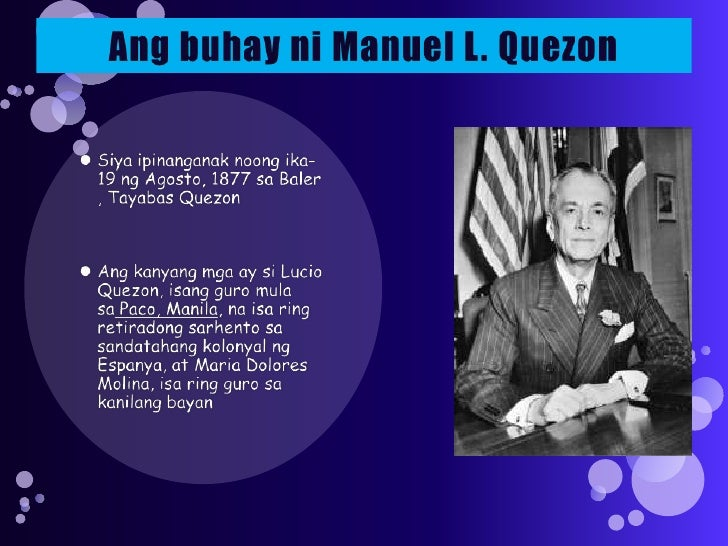 manuel l quezon tagalog essay What quezon actually said of heaven and hell june 12 being philippine independence day, a certain quotation from the commonwealth-era president manuel l quezon will be making the rounds of the main stream punditry as well as the blogosphere:.