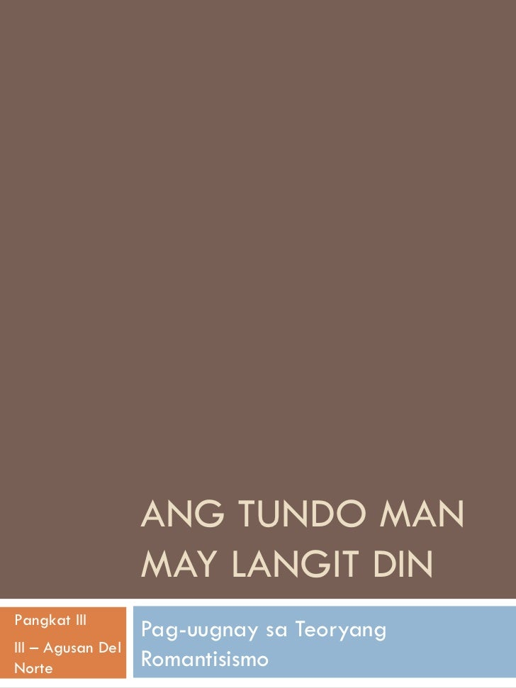 ang tundo man may langit din kabanata 8 Ang tundo man may langit din ay maituturing na biyaya ng maraming ugnayan sa isang panahon ng pag-ibig narito ang maraming pagsubok, kabiguan at tagumpay.