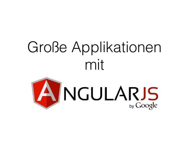 Große Applikationen mit