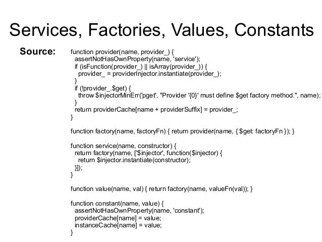 difference between service and factory