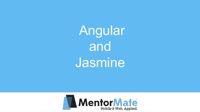 Angular and Jasmine
