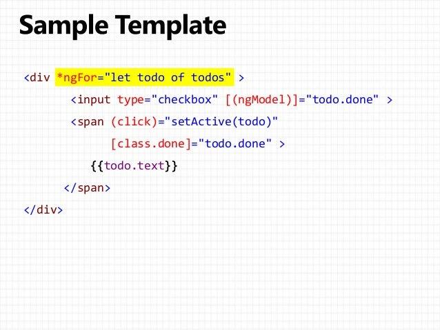 Angular 2 Architecture Bucharest 26102016 – Class List Template
