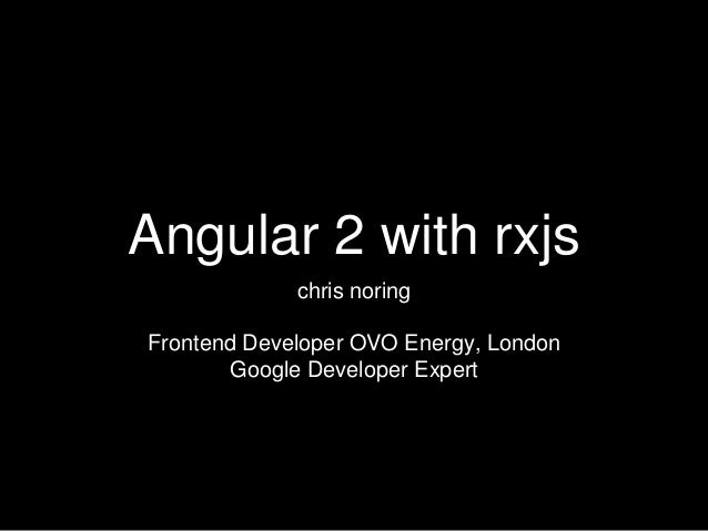 Angular2 + rxjs