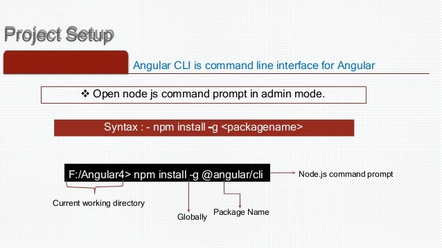 Angular4 getting started