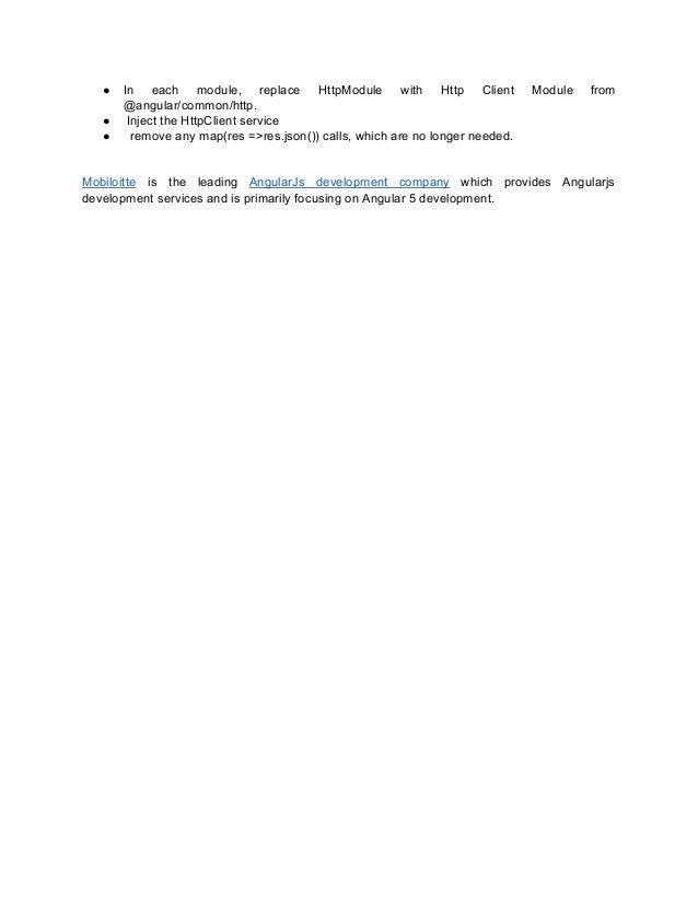 Angular 4 vs angular 5