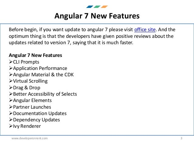 AngularJs 7 new features PDF
