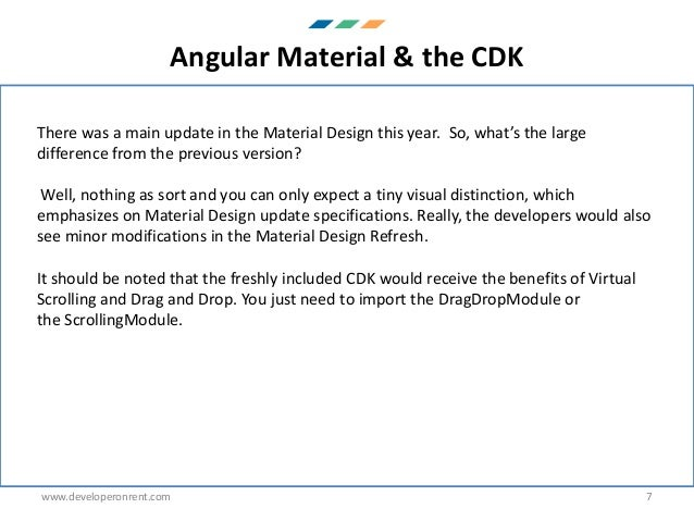 AngularJs 7 new features PDF