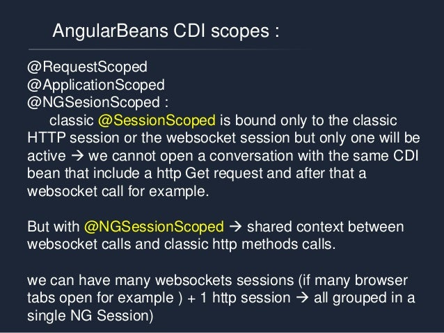 AngularBeans : HTML head & fallback feature Angulars beans will auto detect that and will use a sockJS server end point to...