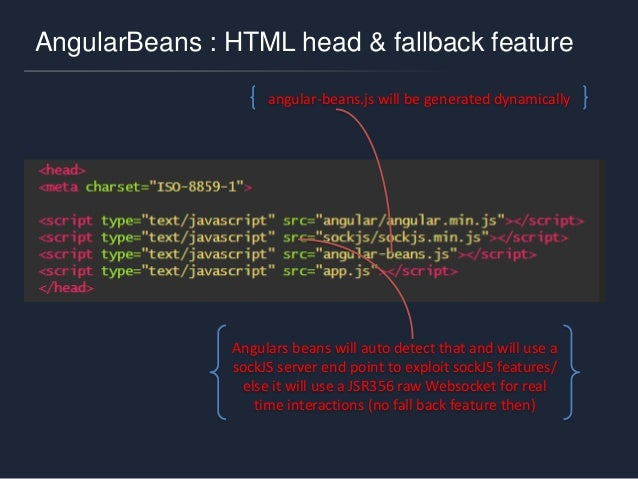 AngularBeans : my first bean (style 1) @AngularBean @RequestScoped public class CalcBean { private int a, b; private int r...