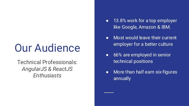 ● 13.8% work for a top employer like Google, Amazon & IBM. ● Most would leave their current employer for a better culture ...