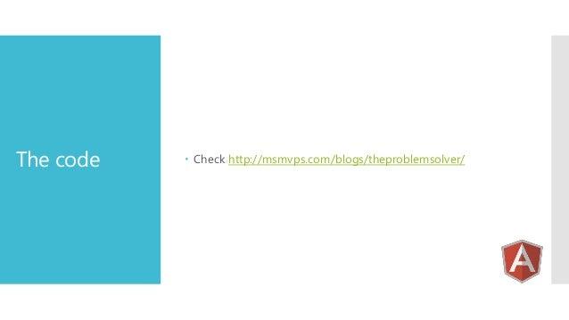 The code   Check http://msmvps.com/blogs/theproblemsolver/