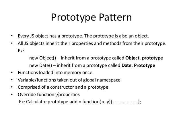 JavaScript Object Prototypes - w3schools.com