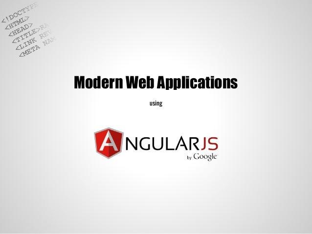 Modern Web Applications using