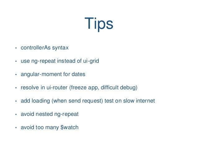 AngularJS roadmap