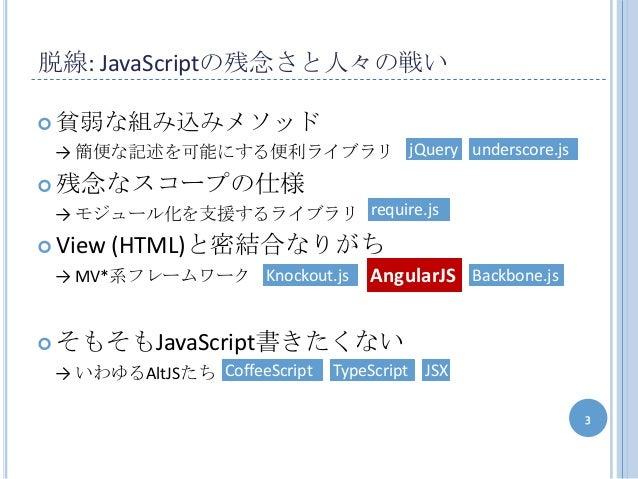 AngularJSを浅めに紹介します Slide 3