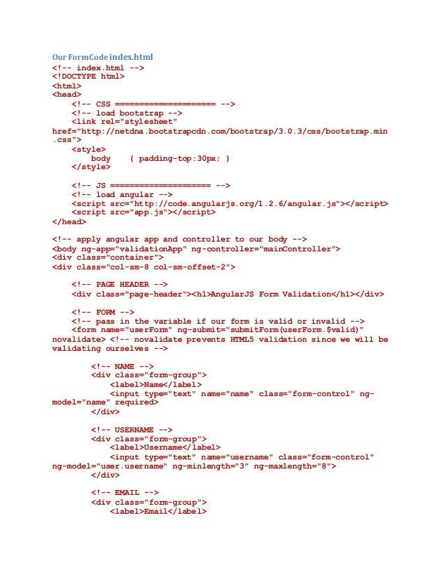 Angular js form validation shashi-19-7-16