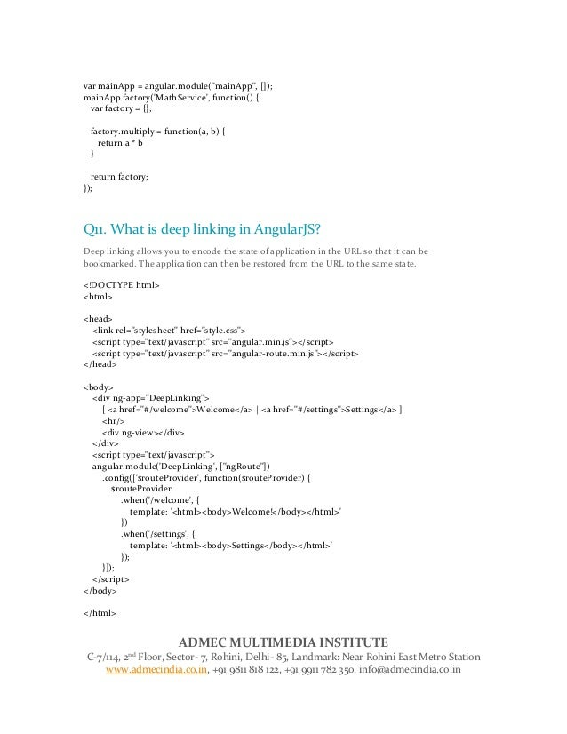 Angular js interview question answer for fresher