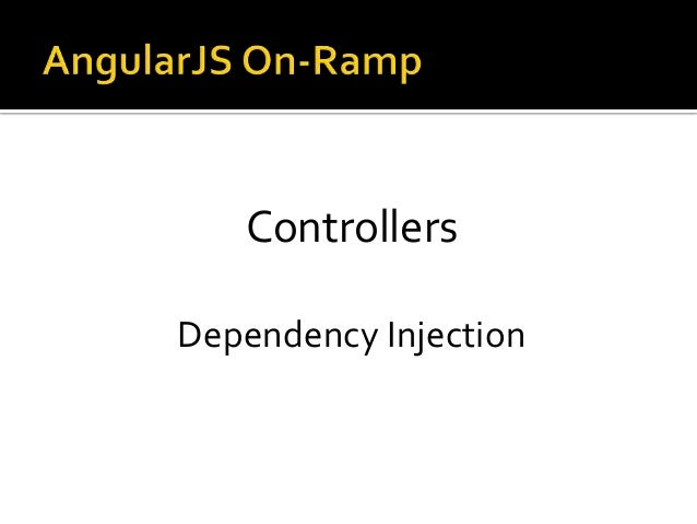 Controllers Dependency Injection
