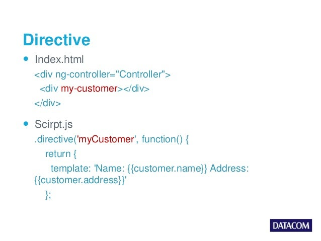 AngularJS Built In Directives
