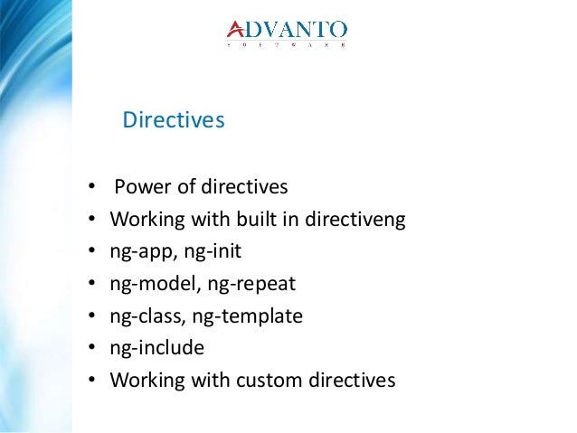 Angular js training in pune course content by advanto software ng template ng include working with custom directives 9 pronofoot35fo Choice Image