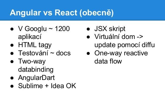 Angular js vs  Facebook react