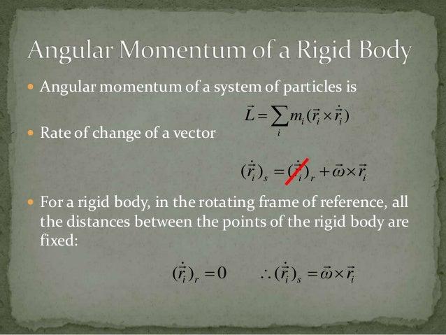 Angular momentum in terms of rigid body