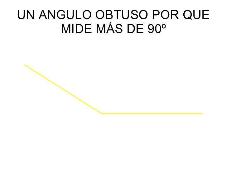 UN ANGULO OBTUSO POR QUE MIDE MÁS DE 90º
