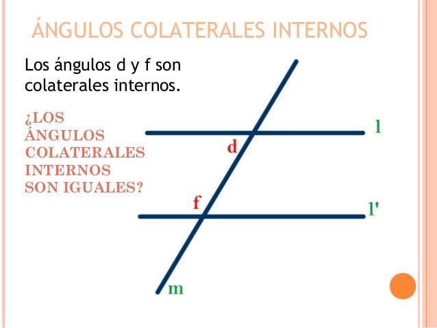 Angulos entre dos paralelas y una secante for Interno s