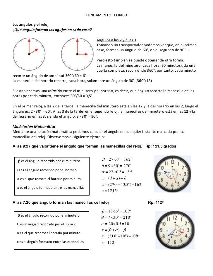Angulos Y El Reloj