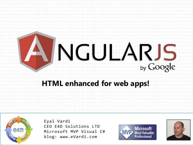 HTML enhanced for web apps!