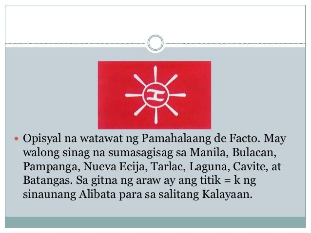 Watawat ng ng pilipinas simbolo 7. Isa