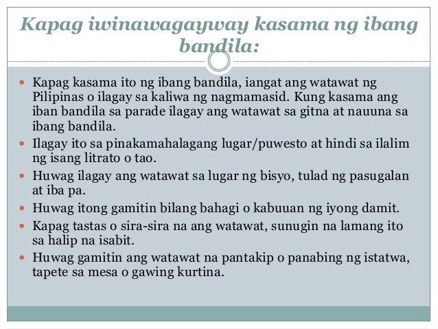 watawat ng pilipinas Infographic: kung paano tiklupin nang wastoangpambansang watawat ng pilipinas.