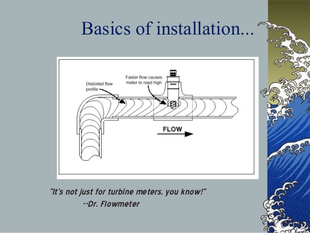 """Basics of installation... """"It's not just for turbine meters, you know!"""" --Dr. Flowmeter"""