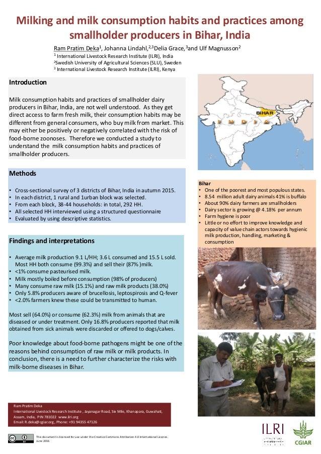 Milkingandmilkconsumptionhabitsandpracticesamong smallholderproducersinBihar,India Introduction Milkconsumpti...