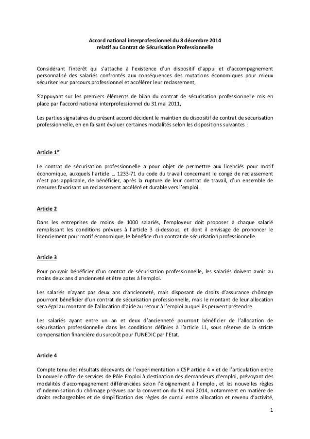 1	    	    Accord	   national	   interprofessionnel	   du	   8	   décembre	   2014	   	    relatif	   au	   Contrat	   de	...
