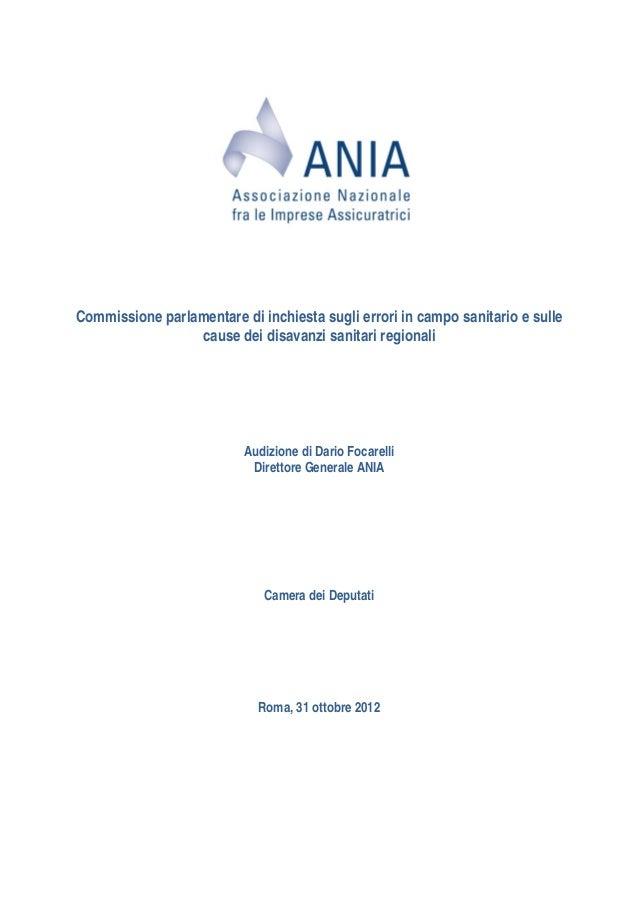 Commissione parlamentare di inchiesta sugli errori in campo sanitario e sulle                 cause dei disavanzi sanitari...