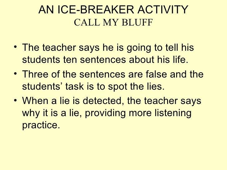 An Ice Breaker Activity