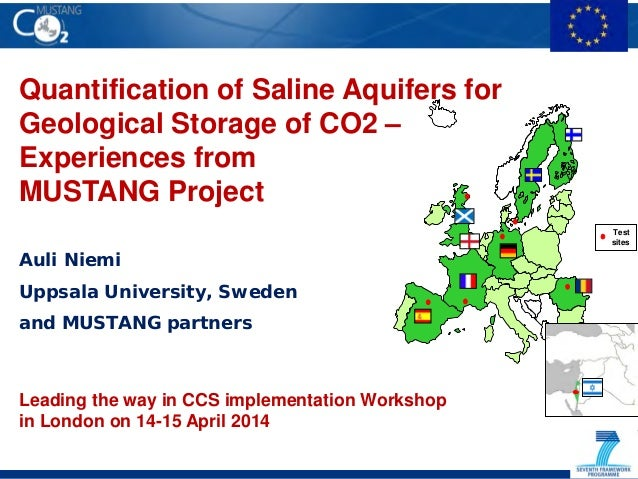 Quantification of Saline Aquifers for Geological Storage of CO2 – Experiences from MUSTANG Project Auli Niemi Uppsala Univ...