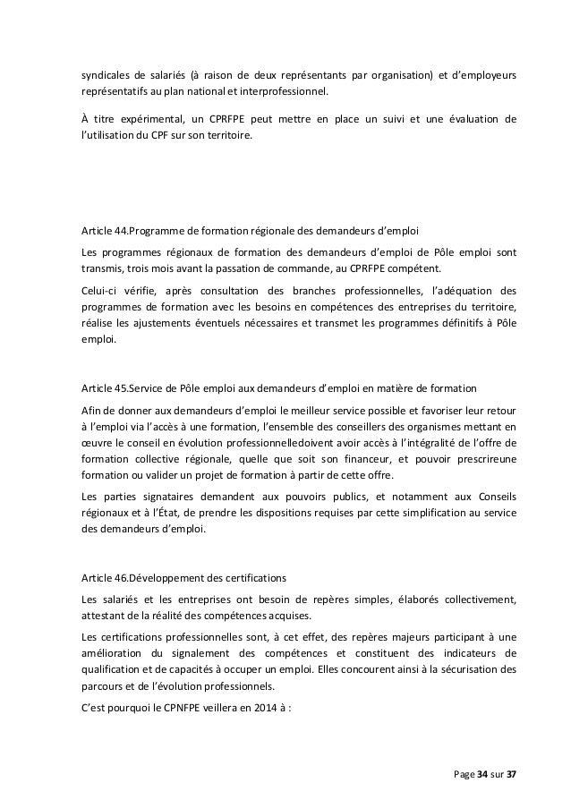 syndicales de salariés (à raison de deux représentants par organisation) et d'employeurs représentatifs au plan national e...