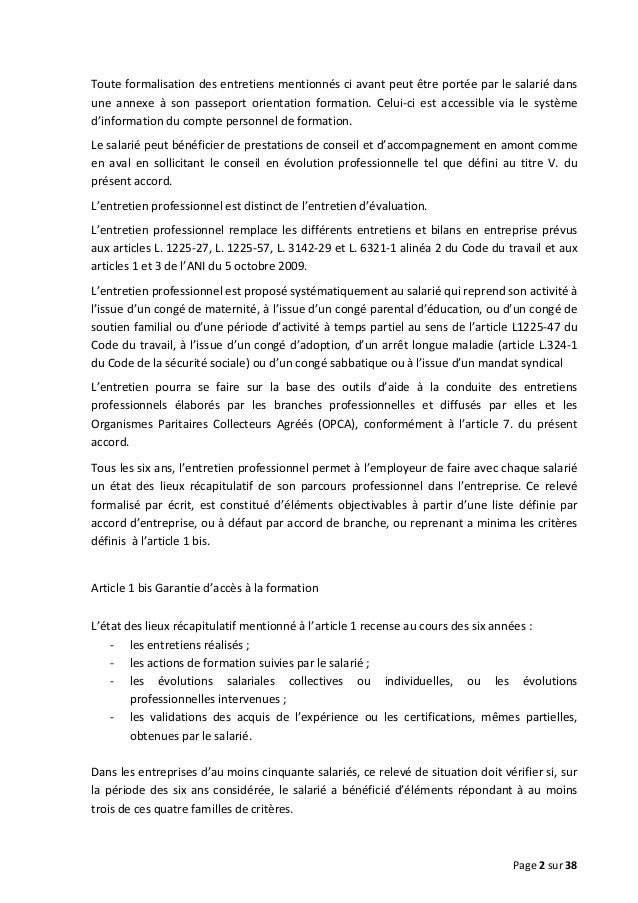 Accord National Interprofessionnel Slide 2