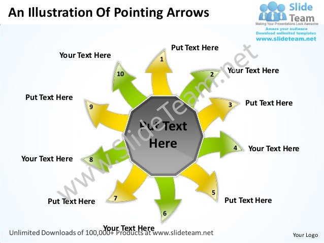 An Illustration Of Pointing Arrows                                              Put Text Here            Your Text Here   ...