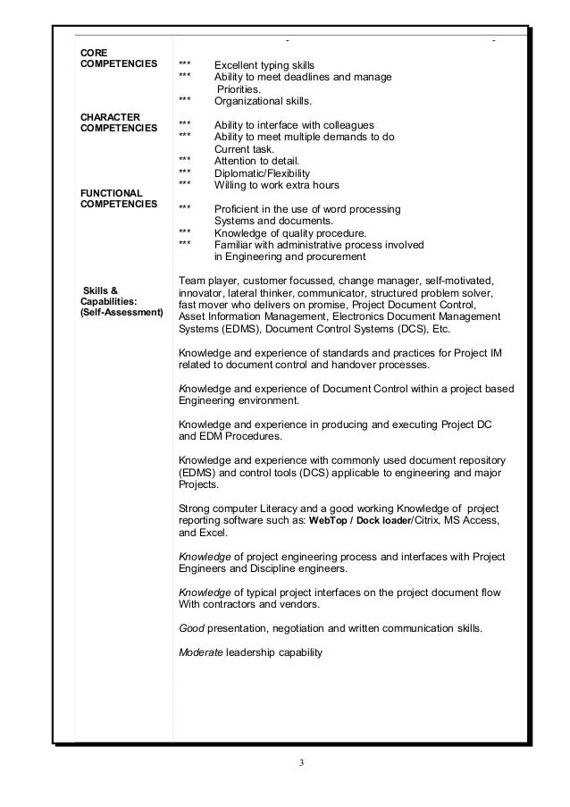Skills and capabilities resume examples