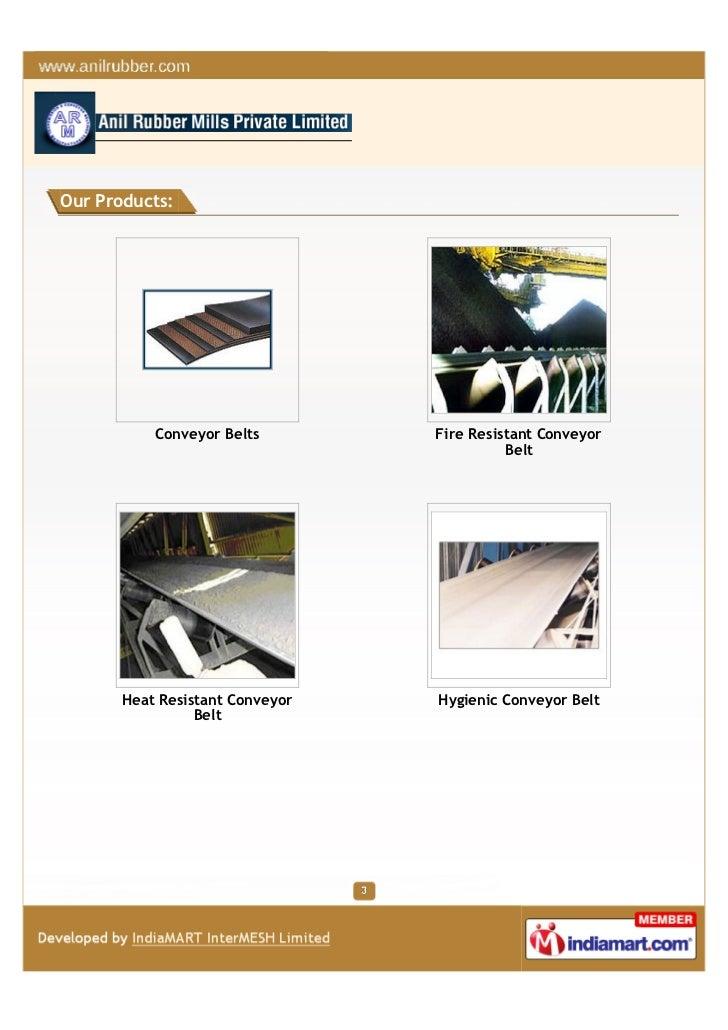 Anil Rubber Mill Pvt Ltd, Faridabad, Industrial Products Slide 3