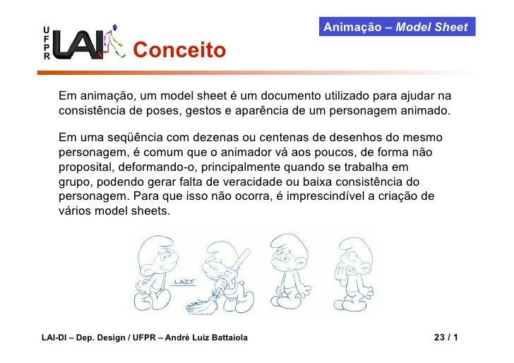 U                                                    Animação – Model SheetFPR                     Conceito    Em animação...