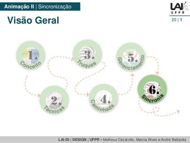 LAI-DI | DESIGN | UFPR • MatheusCezarotto, Marcia Alves e André Battaiola  Animação II | Sincronização  20| 1  Visão Geral