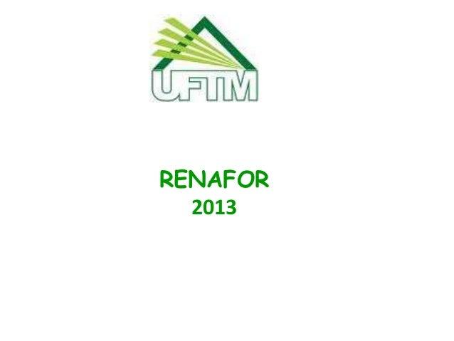 RENAFOR 2013