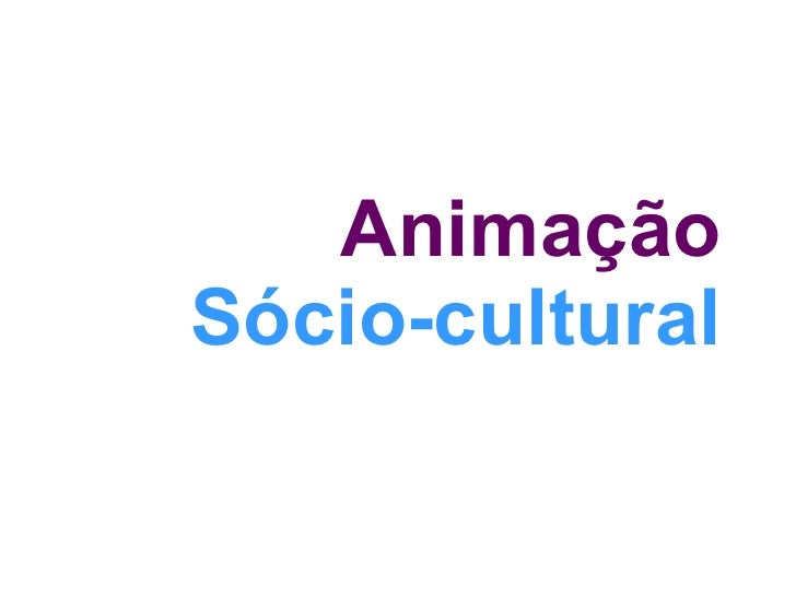 Animação Sociocultural