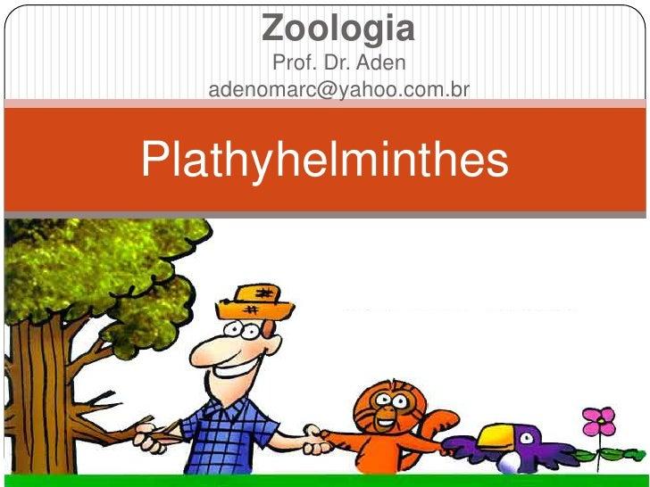 Zoologia       Prof. Dr. Aden  adenomarc@yahoo.com.brPlathyhelminthes