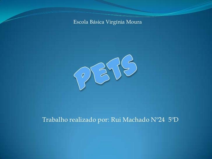Escola Básica Virgínia Moura<br />Pets<br />Trabalho realizado por: Rui Machado Nº24  5ºD<br />