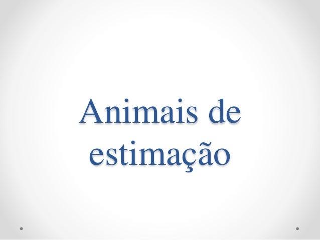 Animais de estimação